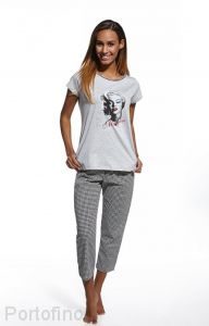 672-67 женская пижама футболка и брюки Cornette