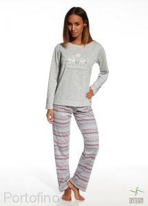 655-105 женская пижама футболка и брюки Cornette