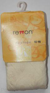 503-004G (92/98) Колготки для девочек  жаккардовые Rewon (Польша)