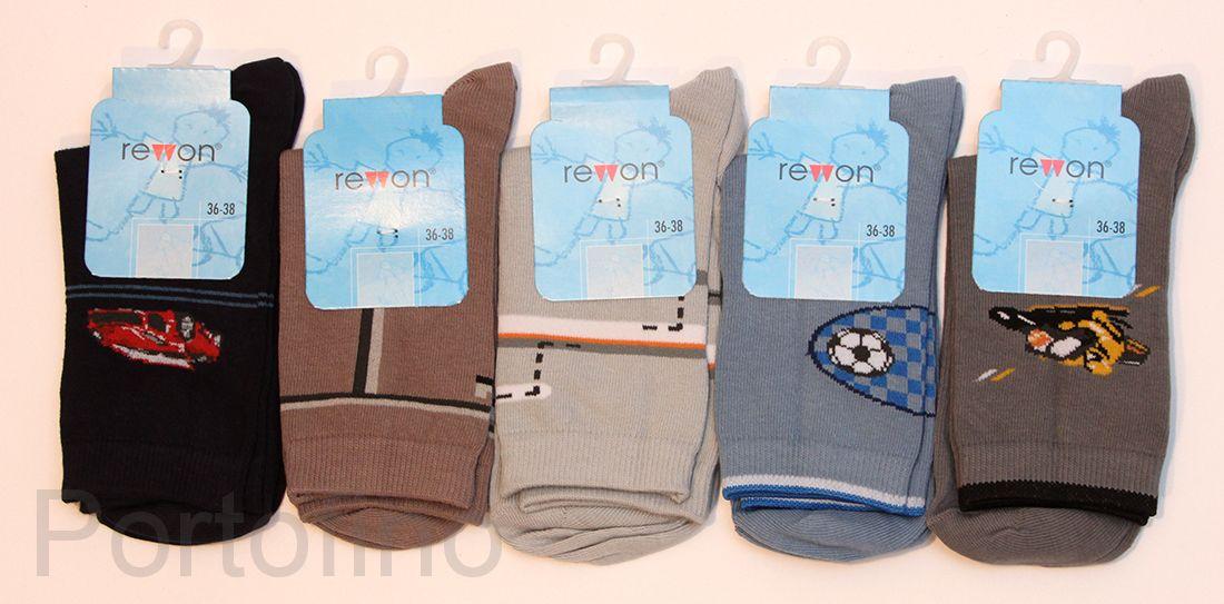 101-002 B  Размер  30-32 (19-20 см )  Носочки для мальчиков  с компьютерным рисунком Rewon (Польша)