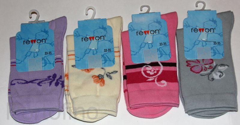 101-002 Размер 27-29 (17-18 см ) Носочки для девочек  с компьютерным рисунком Rewon (Польша)